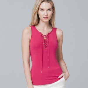 NWT WHBM Lace Up Tank